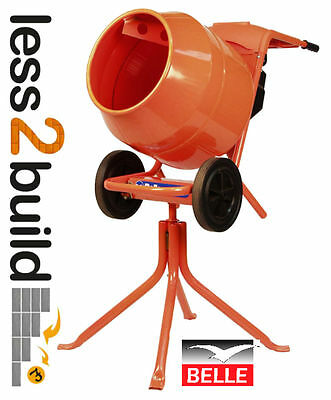 Belle Minimix 150 240v Mini Mix Cement Concrete Mixer Includes Stand