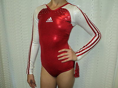 NWT Adidas Long Sleeves Competition Leotard W/Stone More Size Great 4 Gift