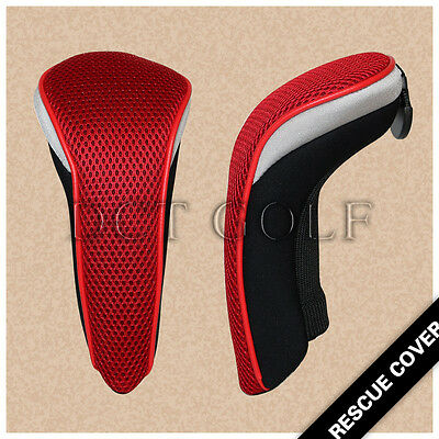 2PCS Golf UT Rescue Hybrid Cover Headcover For Taylormade M2 M1 R15 SLDR RED