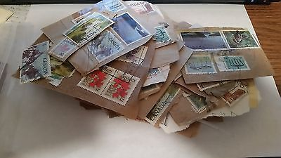 Canceled Postage Stamps Canada  lot of 300