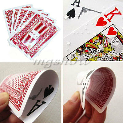 100% PLASTIC New Poker Size Good Playing Cards Excellent Sealed Standard Casino