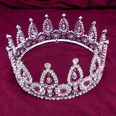 6cm High Full Crystal Luxury Wedding Bridal Party Pageant Prom Tiara Crown