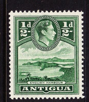 1938 Antigua  KGVI 1/2d Green - Mint