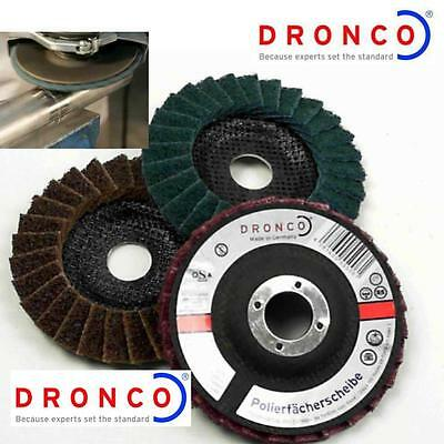 Dronco 115Mm Polishing Disc For Angle Grinders Stainless Steel Welds 3M Type