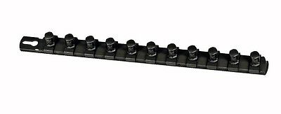 "Ernst 8425 13""  1/2"" Dr. Socket Organizer with 11 Twist Lock Clips - Black"