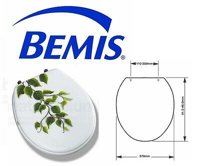 Bemis Moulded Wood Novelty Toilet Seat With Adjustable Chrome Plated Hinges 4130