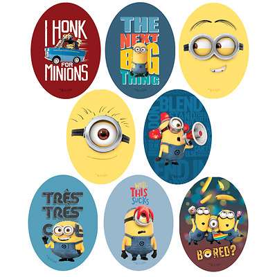 Despicable Me Minions Oval Patches Woven Iron / Sew On Motif Applique