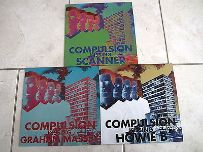 COMPULSION KISSING GRAHAM MASSEY / HOWIE B / SCANNER 3 x PROMO 12""