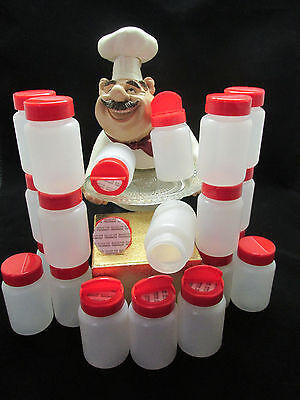 20 SPICE JARS CONTAINERS BOTTLES 1/2 FLIP TOP OPENING 3oz PLASTIC FREE SHIPPING