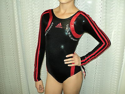 NWT Adidas Long Sleeves Competition Leotard W/Stones Sz Adult XS Great 4 Gift