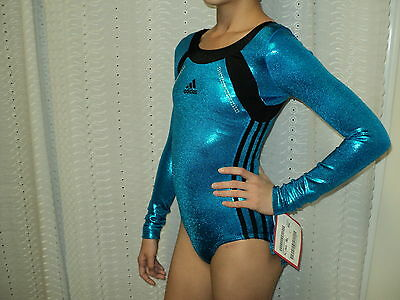 NWT Adidas Long Sleeves Competition Leotard W/Stones More Size Great 4 Gift
