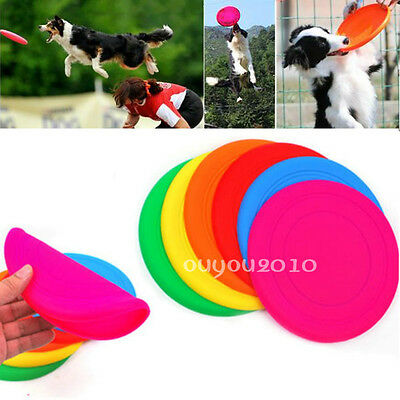 Soft Pet Toy Dog Training Flying Disc Saucer Frisbee Outdoor Dish Plate Puppy