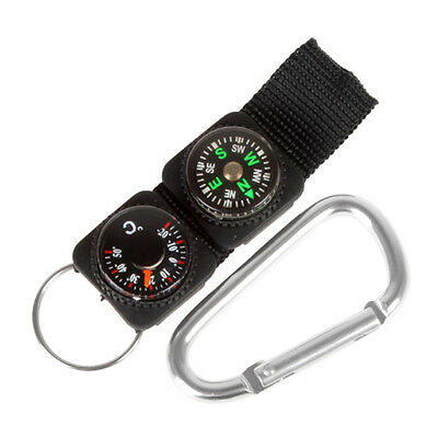 SH US Multifunction Camping Compass Keychain Unisex Military Outdoor Tools