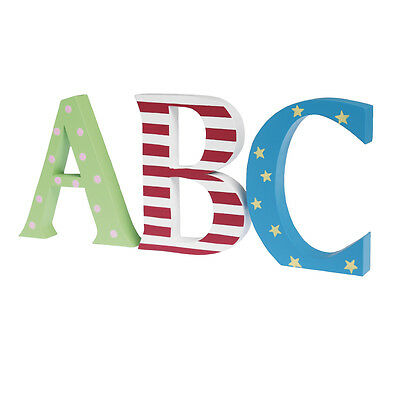 dotcomgiftshop NURSERY A B C PAINTED LETTERS. CHILDRENS ABC WOODEN DECORATION