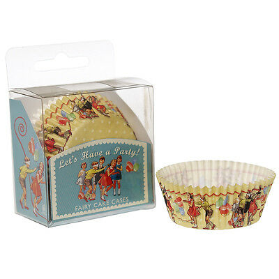 dotcomgiftshop SET 60 VINTAGE PARTY YELLOW PAPER CUPCAKE MUFFIN FAIRY CAKE CASES