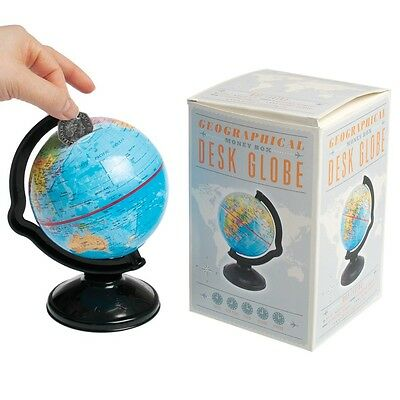 dotcomgiftshop GEOGRAPHICAL MONEY BOX DESK GLOBE WORLD MAP IN A GIFT BOX