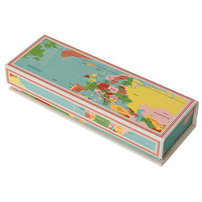 dotcomgiftshop CARDBOARD MAGNETIC PENCIL CASE VINTAGE WORLD MAP