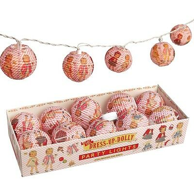 dotcomgiftshop DRESS UP DOLLY PARTY LIGHTS WITH BS 3 PIN PLUG