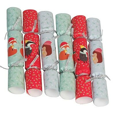 dotcomgiftshop RUSTY THE FOX HONEY THE HEDGEHOG AND MR BADGER CHRISTMAS CRACKERS