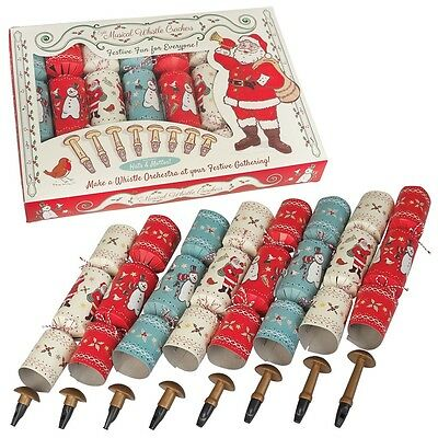 dotcomgiftshop SET OF 8 FAMILY PARTY CRACKERS CHRISTMAS WHISTLE ORCHESTRA