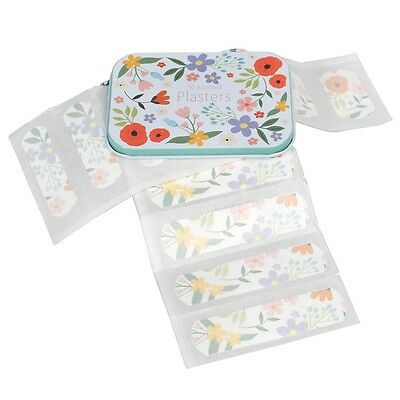 dotcomgiftshop 30 ASSORTED PLASTERS IN TIN SUMMER MEADOW DESIGN