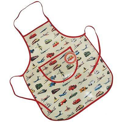 dotcomgiftshop VINTAGE TRANSPORT DESIGN OILCLOTH CHILDRENS APRON
