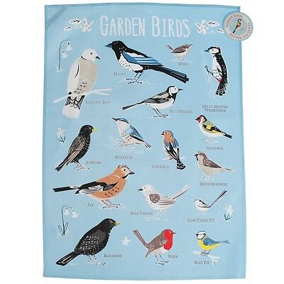dotcomgiftshop GARDEN BIRDS PRINTED COTTON TEA TOWEL