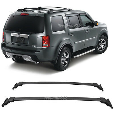 Fit For 09-15 Honda Pilot OE Black Top Roof Rack Cross Bar Mounting Accessory