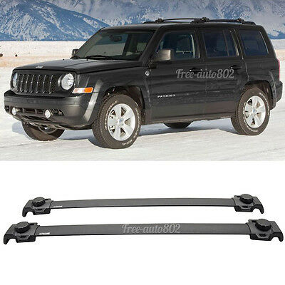 Fit For 07-15 Jeep Patriot OE Style Black Roof Rack Cross Bar ABS Material