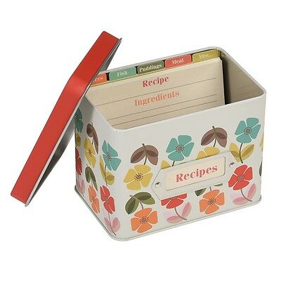 dotcomgiftshop MID CENTURY POPPY DESIGN RECIPE TIN