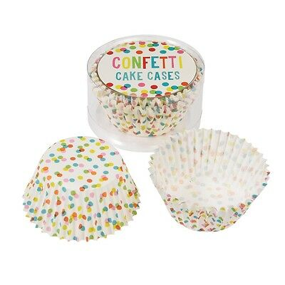 dotcomgiftshop SET OF 50 CONFETTI PAPER CUPCAKE CASES MUFFIN CAKE CASES