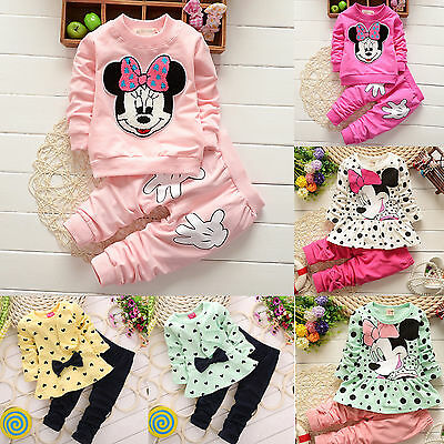 Baby Girls Kids Heart-shaped Tops Sweater + Pants 2PCS Clothes Outfit Sets 1-5 Y