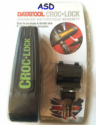 Datatool Croc Lock Motorcycle Scooter Handlebar Throttle Grip Lock Security Lock