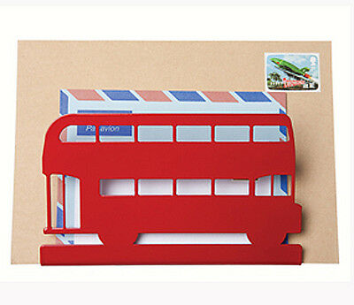 Red Routemaster Bus Letter Rack by Susan Bradley