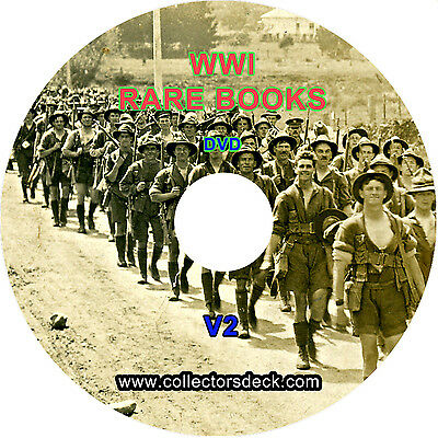71 VIntage RARE World War 1 WW1 Books - Military, History, Records & etc DVD V2