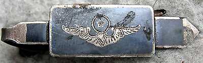 Air Force Command Pilot Tie Clip or Tie Bar Siam Sterling Silver