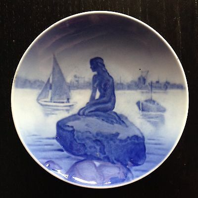 Vintage 1959 Royal Copenhagen Langelinie Mermaid Nude Woman Plate SIGNED