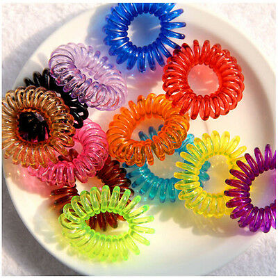 12pcs Elastic Rubber Hair Ties Rope Ponytail Holder Fashion Multi-color A