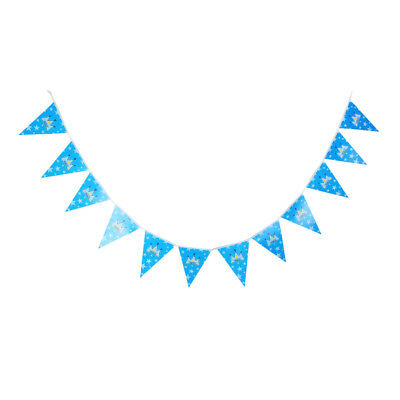 PRINCE Paper Bunting Banner Baby Shower Baby Christening Hanging Decor Blue