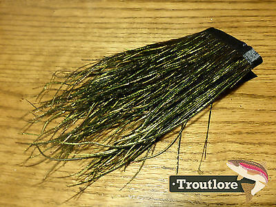 "Fly Tying Feathers - Peacock Hurl Strung 12 Inch Skirt Large Herl 4-7"" - New"