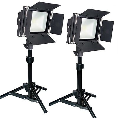 LED PowerLight 200W Photography Table Top Lighting Kit Barndoor Steve Kaeser