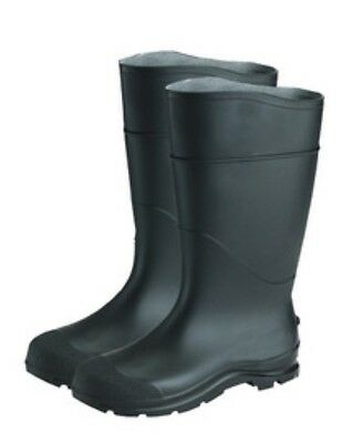 "Radnor 64055863 Black 14"" PVC Lugged Outsole Steel Toe Boots Size 9"