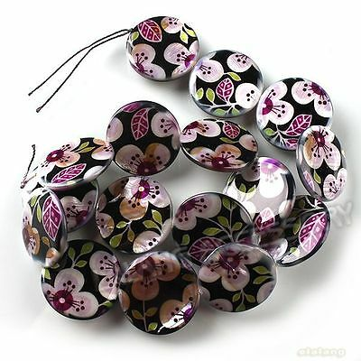 1Strand Colorful Flower Shell Beads Jewelery Making Loose Charms Findings DIY D