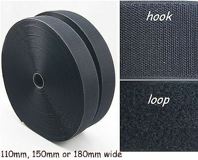 BLACK Hook and Loop Tape Squares - SEW ON or STICK ON - Large Pads Sheets