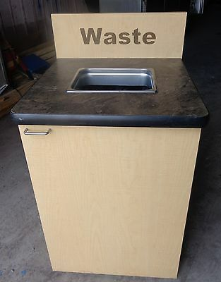 Restaurant Store Garbage Waste Trash Receptacle Can Fast Food Cafeteria