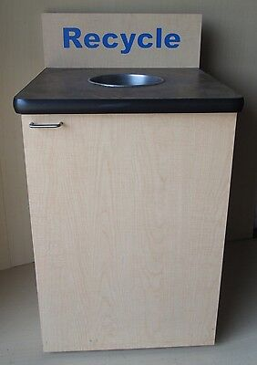 Recycle Restaurant Store Garbage Trash Receptacle Can Fast Food Cafeteria
