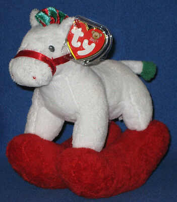 MINT TAGS PRETTY PONY WHITE BABY TY NEW