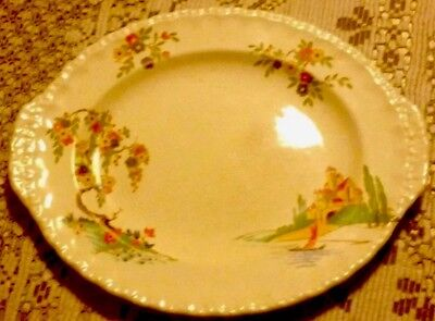 Beautiful Art Deco Grindley England Sandwich Platter