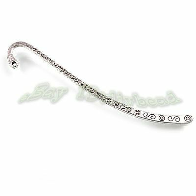 15pcs Vtg Antique Silver Tone Carved Patterns Charms Bookmarks Beading Crafts D