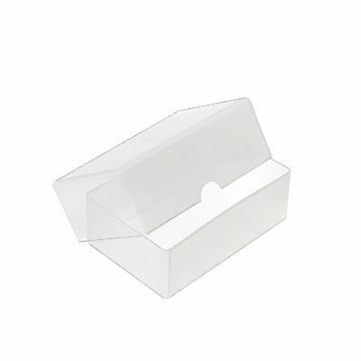 10 x Business Card Box Plastic Holders Clear Craft Container Storage Boxes